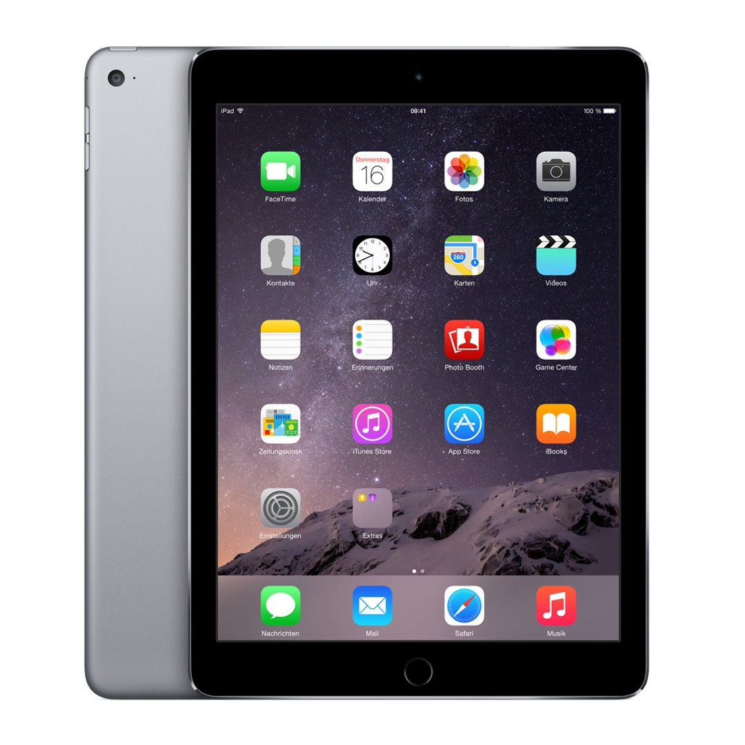 Apple iPad Air 2 WIFI 128 GB Grau